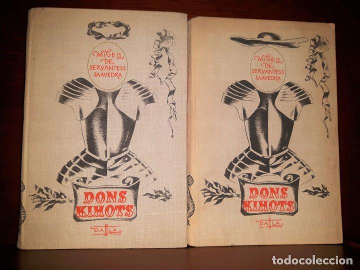 Libros: DON QUIJOTE en LETÓN. 2 TOMOS. 1978 TAPAS DURAS - Foto 2 - 189422786
