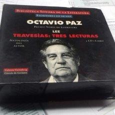 Libros: ESCRITORES EN SU VOZ. OCTAVIO PAZ. TRES LECTURAS. 3 CD + LIBRO. Lote 189434822