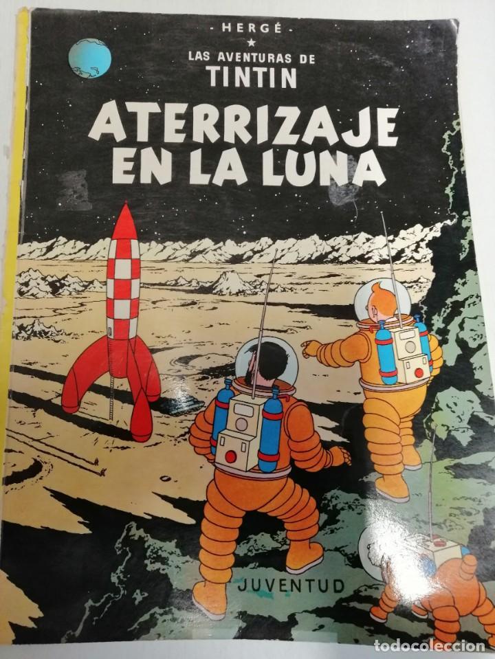 *TINTIN* * ATERREIZAJE EN LA LUNA* DE HERGE EDITORIAL JUVENTUD 6ª EDICIÓN DEL 1976 (Libros Nuevos - Literatura - Narrativa - Aventuras)