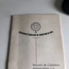 Libros: ASOCIACIÓN DE CABALLEROS DEL MONASTERIO DE YUSTE. Lote 189556201