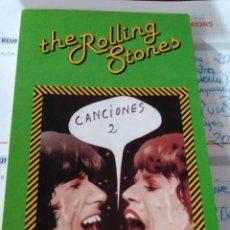 Libros: ROLLING STONES CANCIONES 2. Lote 189687736