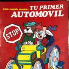 Libros: PARA CUANDO COMPRES TU PRIMER AUTOMOVIL - SUSAETA 1983 - COLECCION STOP. Lote 190461940