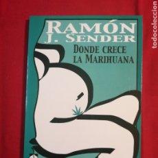 Livros em segunda mão: LITERATURA ESPAÑOLA CONTEMPORANEA. DONDE CRECE LA MARIHUANA. RAMON J. SENDER. Lote 190557053
