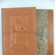 Libros: PRECIOSO LIBRO-MARIO ESTEBAN DE ANTONIO-SEPULVEDA,AIRE,LUZ,COLOR Y SILENCIO-NUMERO 119/125. Lote 191052698