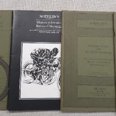 Libros: 4 CATALOGOS DE LA CASA DE SUBASTAS SOTHEBY'S LONDON. NUEVOS.MOTOCYCLES AND RELATED MATERIAL.. Lote 192064946