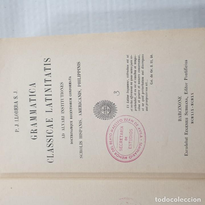 Libros: LLOBERA GRAMMATICA CLASSICAE LATINITATIS BARCINONE, MCMXX - Foto 2 - 192374981