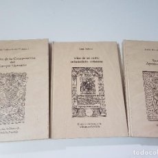 Libros: LOTO-DE 3 TOMOS: 2 DE MEDICINA+1 DE FARMACIA-BIBLIOTECA DE CLÁSICOS- AÑO 1991. Lote 194229765