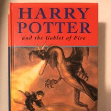 Libros: HARRY POTTER AND THE GOBLET OF FIRE 1ª EDICIÓN EN INGLÉS. Lote 194230286