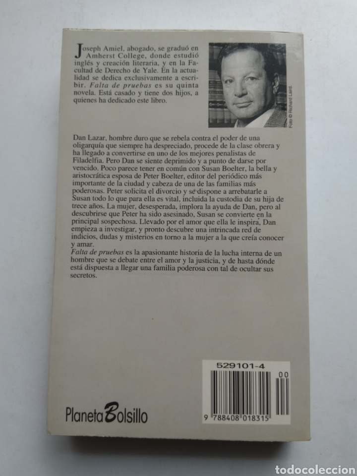 Libros: FALTA DE PRUEBAS/JOSEPH AMIEL - Foto 2 - 194254412