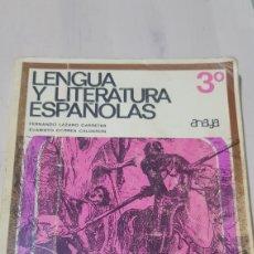 Libros: LIBRO LENGUA Y LITERATURA ESPAÑOLAS ANAYA. Lote 194254885