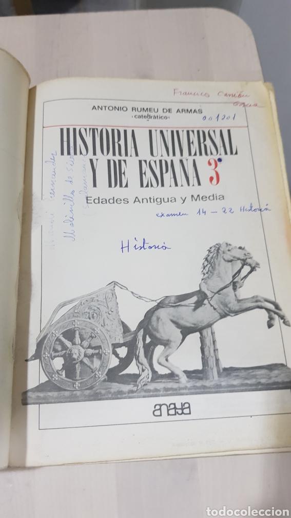 Libros: LIBRO HISTORIA UNIVERSAL Y DE ESPAÑA ANAYA 1969 - Foto 5 - 194254927