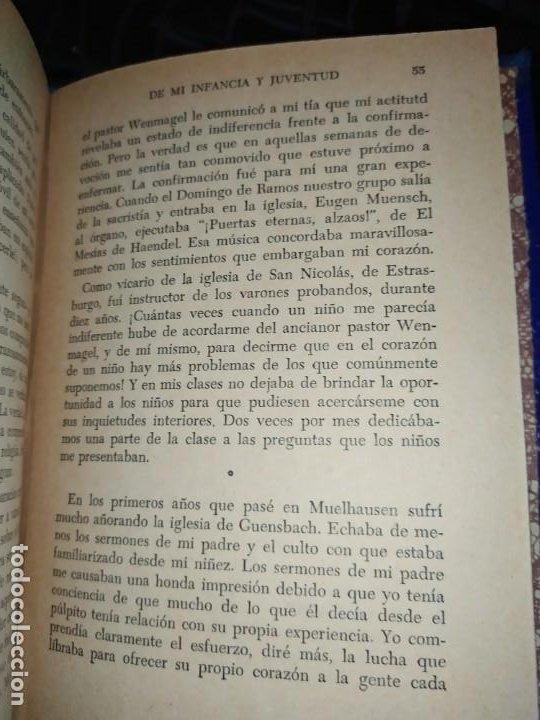 Libros: DE MI INFANCIA Y JUVENTUD ALBERT SCHWEITZER SEGUNDA EDICIÓN 1954 PRÓLOGO SOSA - Foto 2 - 194340593