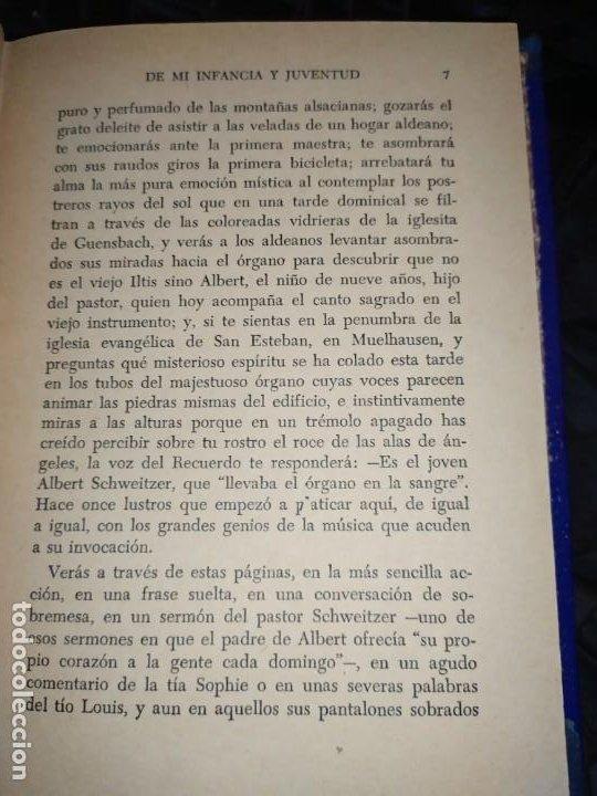 Libros: DE MI INFANCIA Y JUVENTUD ALBERT SCHWEITZER SEGUNDA EDICIÓN 1954 PRÓLOGO SOSA - Foto 3 - 194340593