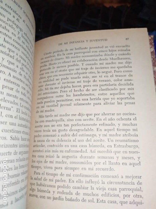Libros: DE MI INFANCIA Y JUVENTUD ALBERT SCHWEITZER SEGUNDA EDICIÓN 1954 PRÓLOGO SOSA - Foto 6 - 194340593