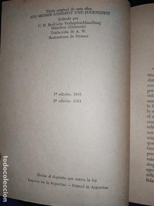 Libros: DE MI INFANCIA Y JUVENTUD ALBERT SCHWEITZER SEGUNDA EDICIÓN 1954 PRÓLOGO SOSA - Foto 7 - 194340593
