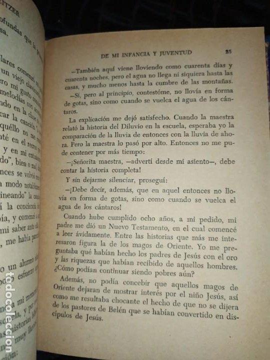 Libros: DE MI INFANCIA Y JUVENTUD ALBERT SCHWEITZER SEGUNDA EDICIÓN 1954 PRÓLOGO SOSA - Foto 15 - 194340593