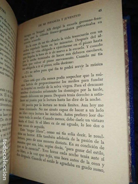Libros: DE MI INFANCIA Y JUVENTUD ALBERT SCHWEITZER SEGUNDA EDICIÓN 1954 PRÓLOGO SOSA - Foto 21 - 194340593