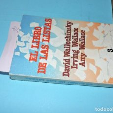 Libros: EL LIBRO DE LAS LISTAS VOL. 3. WALLECHINSKY, DAVID; WALLACE, IRVING; WALLACE, AMY. ED. GRIJALBO. . Lote 194362941