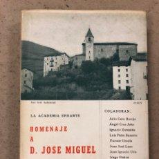 Libros: HOMENAJE A D. JOSÉ MIGUEL DE BARANDIARAN. LA ACADEMIA ERRANTE (VV.AA). COLECCIÓN AUÑAMENDI. Lote 194578405