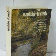 Libros: RETRATOS CULTURALES - FRANK, WALDO. Lote 194594997