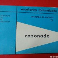 Libros: MATEMÁTICAS 6°CURSO BACHILLERATO .ENSEÑANZA RACIONALIZADA .CUADERNO 2 .ED.EMEGE.. Lote 194686295