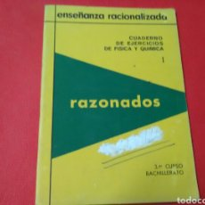 Libros: ENSEÑANZA RACONALIZADA .CUADERNOS DE EJERCICIOS L Y LL 3° DE BACHILLERATO FISICA Y QUIMICA. Lote 194688420