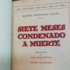 Libros: SIETE MESES CONDENADO A MUERTE - MENENDEZ VALDES, MANUEL. Lote 44522441