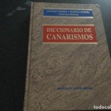 Libros: DICCIONARIO DE CANARISMOS. . Lote 194719448