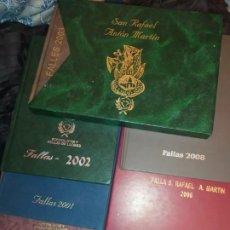 Libros: LOTE LIBROS FALLEROS FALLA SAN RAFAEL ANTON MARTÍN AÑOS 1999/2000/2001/2002/2003/2005/2006/2008. Lote 194735468