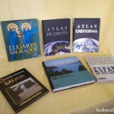 Libros: LOTE DE 6 LIBROS DE GRAN FORMATO A CLASIFICAR, ENCUADERNACIÓN EDITORIAL, LUGARES, CAMINOS, CULTURA... Lote 194775542