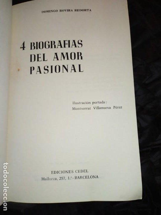 Libros: 4 BIOGRAFÍAS DEL AMOR PASIONAL DOMINGO ROVIRA RECORTA 1972 - Foto 7 - 194905388