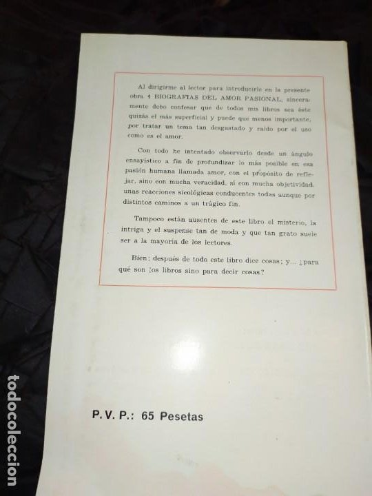Libros: 4 BIOGRAFÍAS DEL AMOR PASIONAL DOMINGO ROVIRA RECORTA 1972 - Foto 11 - 194905388