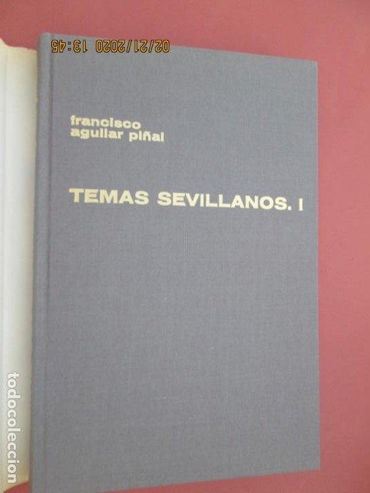 Libros: TEMAS SEVILLANOS (PRIMERA PARTE) - FRANCISCO AGUILAR PIÑAL - SEVILLA 1972. - Foto 2 - 194974220