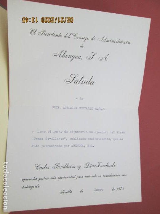 Libros: TEMAS SEVILLANOS (PRIMERA PARTE) - FRANCISCO AGUILAR PIÑAL - SEVILLA 1972. - Foto 3 - 194974220