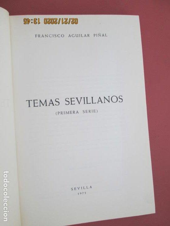 Libros: TEMAS SEVILLANOS (PRIMERA PARTE) - FRANCISCO AGUILAR PIÑAL - SEVILLA 1972. - Foto 4 - 194974220