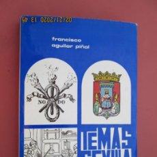 Libros: TEMAS SEVILLANOS (PRIMERA PARTE) - FRANCISCO AGUILAR PIÑAL - SEVILLA 1972.. Lote 194974220