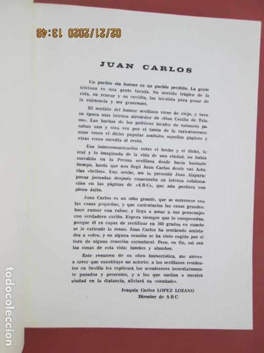 Libros: SEVILLA ES IN DIFERENTE - SELECCIÓN DE 205 CHISTES DE JUAN CARLOS - SEVILLA 1970. - Foto 3 - 194974513