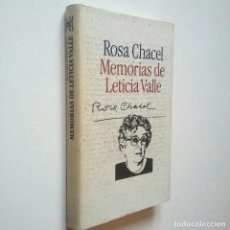 Libros: MEMORIAS DE LETICIA VALLE - ROSA CHACEL (INTRODUCCIÓN DE LUIS ANTONIO DE VILLENA). Lote 194981217