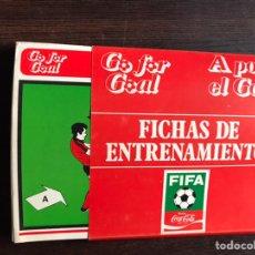 Libros: A POR EL GOL. FICHAS DE ENTRENAMIENTO. COCA-COLA 78. Lote 194982020