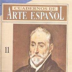 Libros: CUADERNOS DE ARTE ESPAÑOL, 11. EL GRECO - TRINIDAD DE ANTONIO. Lote 194989272