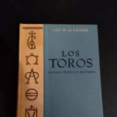 Libros: LOS TOROS TRATADO TÉCNICO E HISTÓRICO. Lote 195037186