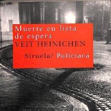 Libros: MUERTE EN LISTA DE ESPERA. Lote 195045076