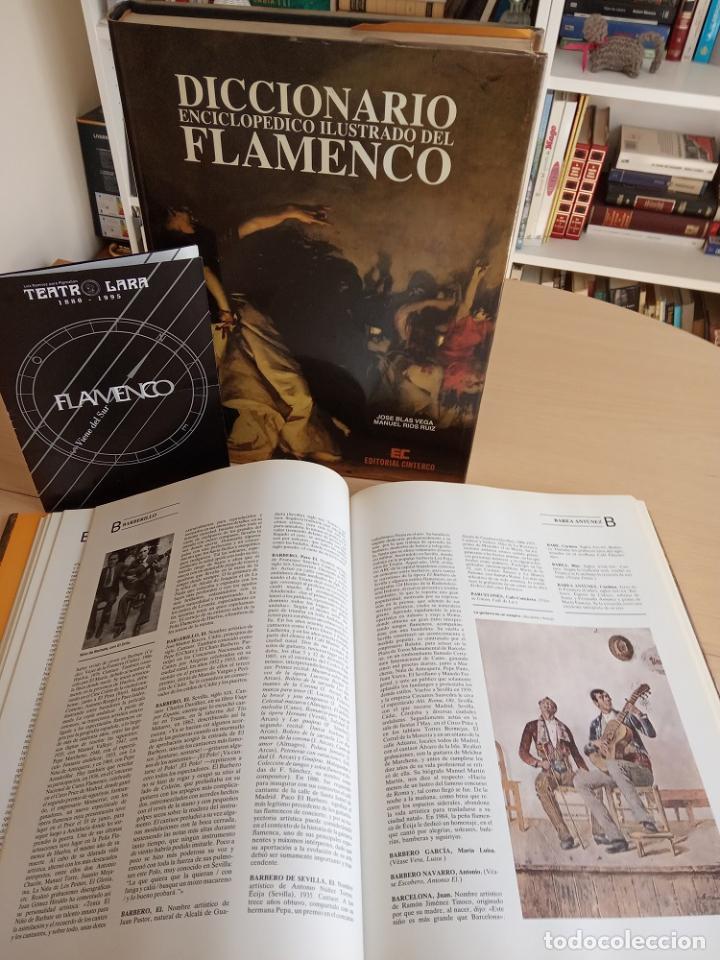 FIRMADO Y DEDICADO POR GRANDES ARTISTAS DEL FLAMENCO. DICCIONARIO ENCICLOPÉDICO ILUSTRADO DEL FLAMEN (Libros sin clasificar)