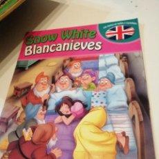 Libros: G-KUKI84 LOTE DE DOS LIBROS CON TEXTOS EN INGLES Y CASTELLANO BLANCANIEVES Y PETER PAN . Lote 195057057