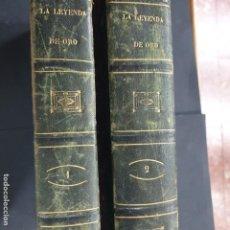 Libros: LA LEYENDA DE ORO PARA CADA DÍA DEL AÑO VIDAS DE TODOS LOS SANTOS QUE VENERA...2 VOLÚMENES 1853. Lote 195111790