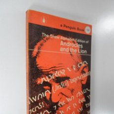 Libros: ANDROCLES AND THE LION BERNARD SHAW THE SHAW ALPHABET EDITION Q 29. Lote 195117635