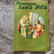 Libros: ALMANAQUE DE SANTA ZITA, 1965. MUY ESCASO.. Lote 195149735