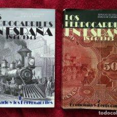 Libros: LOS FERROCARRILES EN ESPAÑA 1844-1943... 2 VOLÚMENES. -- DIR. MIGUEL ARTOLA. Lote 195234998