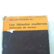 Libros: BAC. LOS FILÓSOFOS MODERNOS TOMO II. Lote 195284351