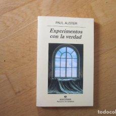 Libros: EXPERIMENTOS CON LA VERDAD, DE PAUL AUSTER. Lote 195284701
